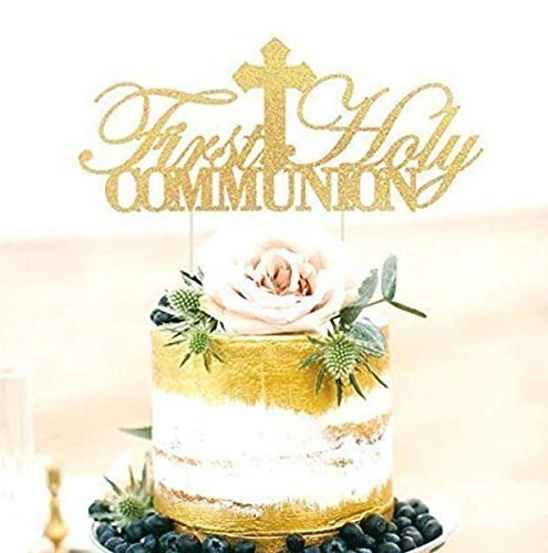 First Holy Communion Cake Topper First Amazon Com