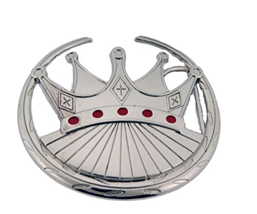 Princess Crown Belt (Royal Emperor King Queen Prince Princess Crown Belt Buckle Halloween Costume New)