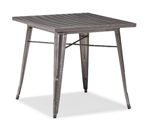 Gunmetal Finish Accents - Zuo Modern 109125 Olympia Dining Table, 31.9