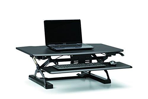 HON Coordinate Desktop Riser with Keyboard Tray, Black (Hon Keyboard Trays)