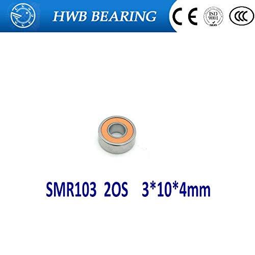 Ochoos 10PCS SMR103 2OS CB ABEC7 3X10X4mm Stainless Steel Hybrid Ceramic Bearing SMR103-2RS SMR103C 2OS