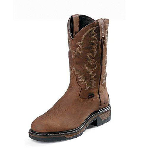 Tony Lama Mens Panhandle 11 Hauteur (tw1019) | Pied Bronzage Cheyenne | Bottes Western De Pullon | Botte En Cuir Marron Cowboy | Fabriqué À La Main Aux Etats-unis