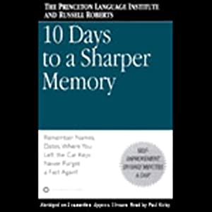 10 Days to a Sharper Memory Hörbuch