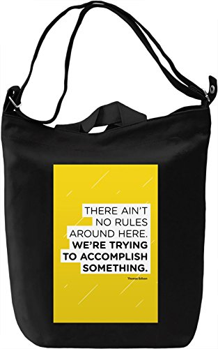 No rules Borsa Giornaliera Canvas Canvas Day Bag| 100% Premium Cotton Canvas| DTG Printing|