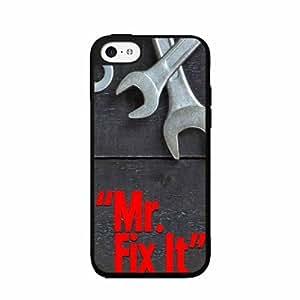 Mr. Fix It TPU RUBBER SILICONE Phone Case Back Cover iPhone 5c