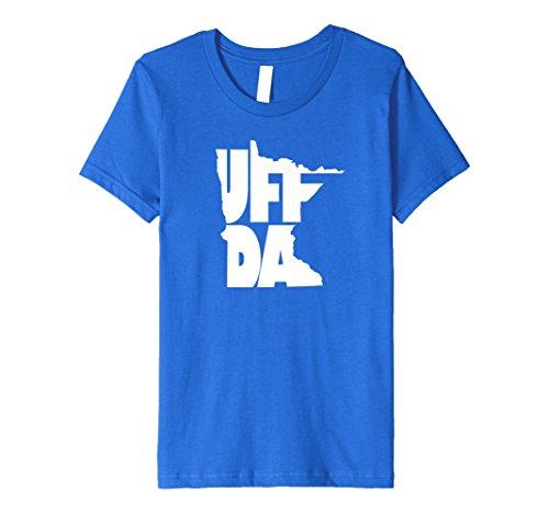 Price comparison product image Kids Uff Da - Minnesota Classic Saying - Tee Shirt 4 Royal Blue