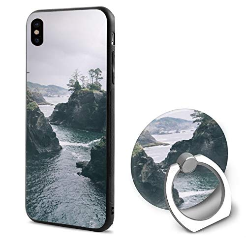 Samuel h b Compatible with iPhone X Case Soft TPU Slim Cover with Ring Holder Stand for -
