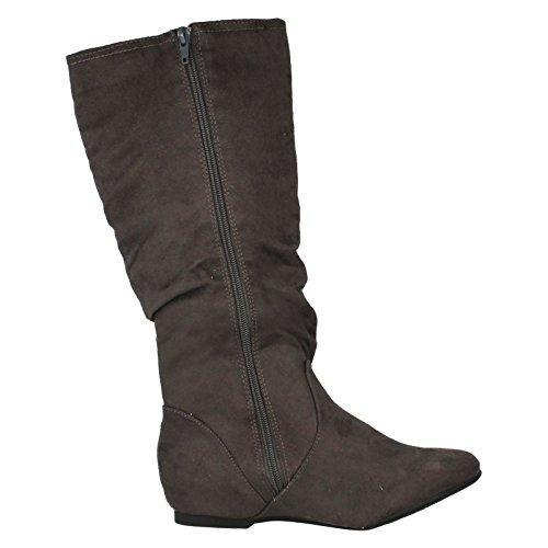 Grey Boots Microfiber L9333 Style Coco Ladies 4Iq5XX