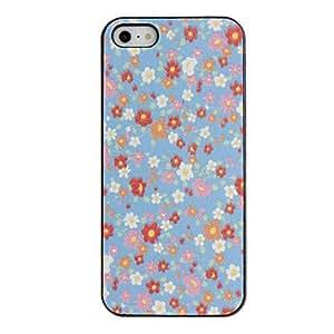 GONGXI-Pequeñas flores patrón caso duro de PC Fresh con Negro Marco para el iPhone 5/5S