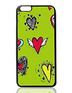 Cute Hearts Custom Hard Plastic back cell Phones Case for Apple iphone6 plus - iphone 6 plus 5.5 inch Case Cover
