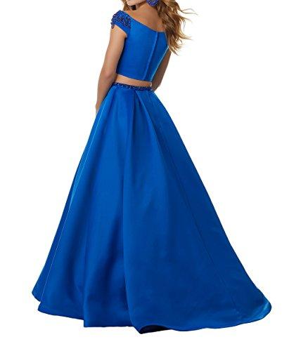 A Royal Abendkleider Langes Jugendweihe Teilig Blau Damen Zwei Kleider Hell Charmant Abschlussballkleider Linie Promkleider qwCnF5x7E