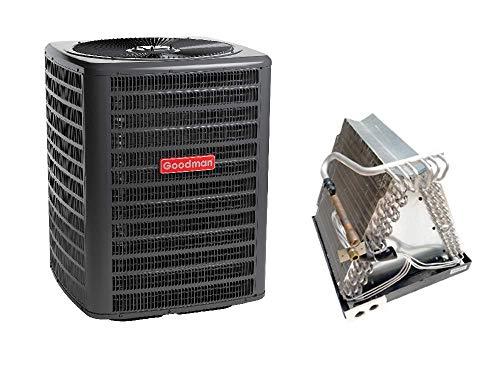 Goodman 1.5 Ton 13 SEER Air Conditioner GSX130181, Coil CAUF1824A6, Upflow, Downflow Coil CAUF1824A6