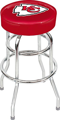 Stool Seat Finish - Imperial Officially Licensed NFL Furniture: Swivel Seat Bar Stool, Kansas City Chiefs