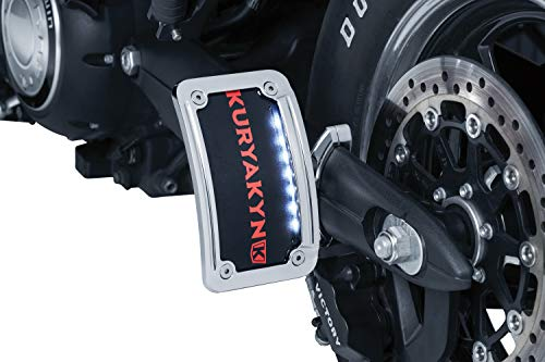 Kuryakyn 3189 Motorcycle Accessory: Side Mount License Plate Holder Clamp for 2007-17 Victory Motorcycles, - Swing Plate Arm License