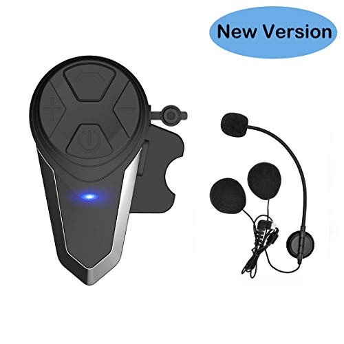 Thokwok Motorcycle Bluetooth Headset,BT-S3 1000m Helmet Bluetooth Communication Systems Ski Helmet Headphones Bluetooth Intercom Walkie-Talkie for Snowmobile,Up to 3 Riders(Pack 1)