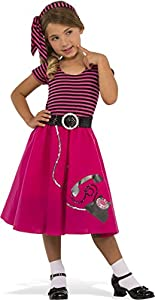 1950s Costumes- Poodle Skirts, Grease, Monroe, Pin Up, I Love Lucy Rubies Costume Childs 50s Girl Costume Large Multicolor $27.99 AT vintagedancer.com