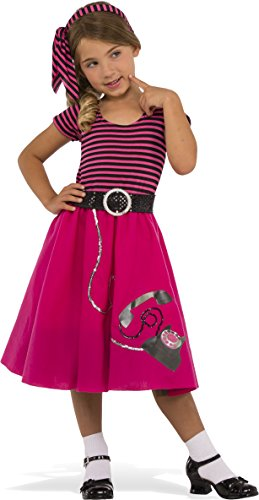 Rubie's Costume Child's 50's Girl Costume, Large, -