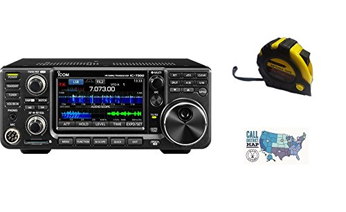 Bundle - 3 Items - Includes Icom IC-7300 100W HF Transceiver with the New Radiowavz Antenna Tape (2m - 30m) and HAM Guides Quick Reference Card by Icom (Image #4)