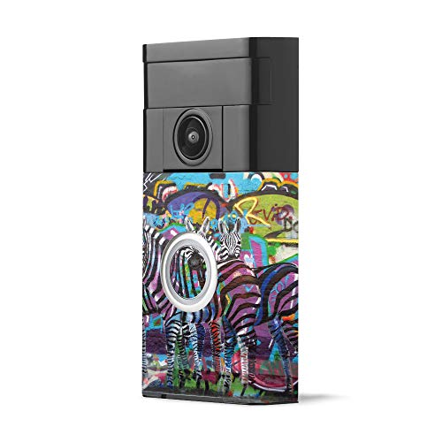 MightySkins Skin for Ring Video Doorbell - Zebra Gang | Protective, Durable, and Unique Vinyl Decal wrap Cover | Easy to Apply, Remove, and Change Styles | Made in The USA