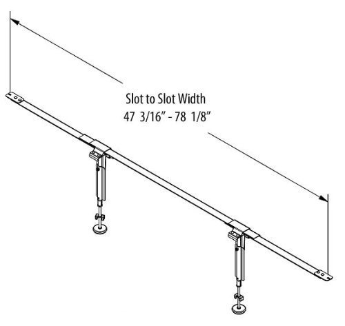 EZ-Lift EL2-18 Steel Bedding Support System, 3 Cross Supports, 2 Legs Each