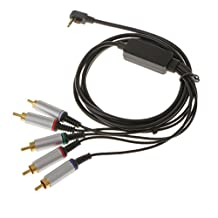 MagiDeal Component AV TV HDTV Cable Lead Cord For Sony PSP 1000/2000/3000 6ft