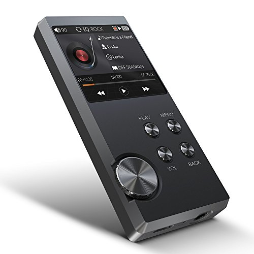 High Resolution MP3 Player, Bassplay P3000 Lossless Portable Digital Audio Music Player Built-in 16GB Flash Memory (Space Gray)