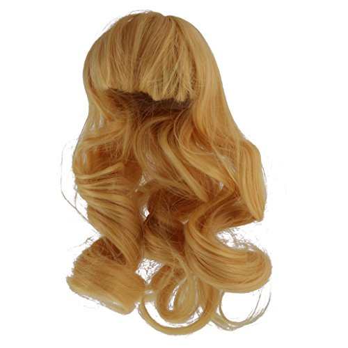 Jili Online Long Wave Curly Hair Wig Hairpiece for 1/4 BJD SD Dolls Accessories - Blonde