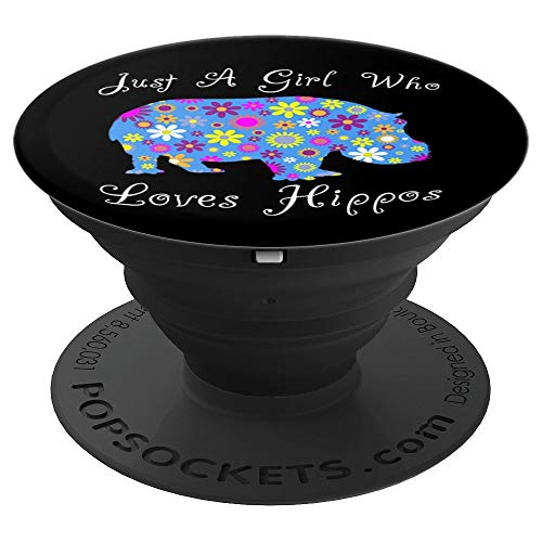 Hippo Themed Phone Hand Holder Knob Gifts For Women & Girls - PopSockets Grip and Stand for Phones and Tablets