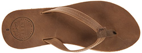 Reef Chill Leather, Sandalias Flip-Flop para Mujer Marrón (Tobacco)