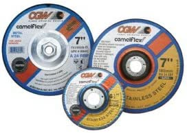 CGW Abrasives 37510 Depressed Center Wheel 4 x 1//4 x 5//8 Type 27 24 Grit Silicon Carbide Pkg Qty 25, Sold in packages of 25