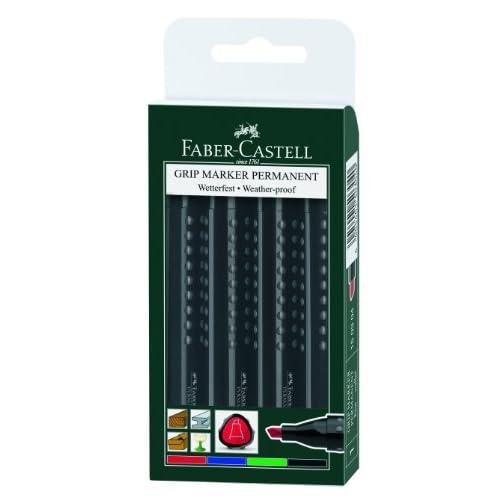 FARBER CASTELL Marqueur Permanent GRIP, pointe biseaut',