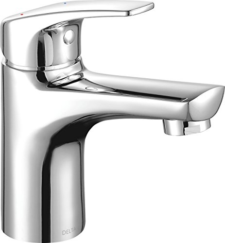 Modern Single-Handle Bathroom Faucet with Drain Assembly, Chrome 534LF-PP