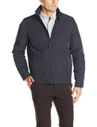 Men's Poly-Twill Stand-Collar Zip-Front Jacket