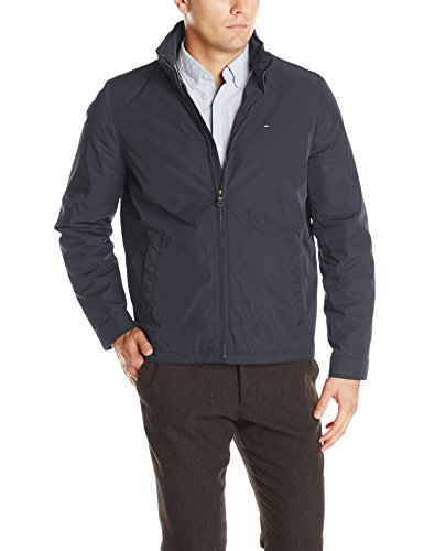 Tommy Hilfiger Poly Twill Stand Collar Zip Front