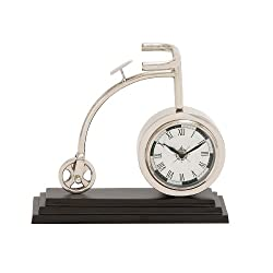 Plutus Brands The Cute Metal Cycle Table Clock