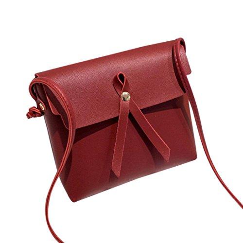 De Rojo Bolso Baratos De Mujer Manadlian L 6cm Bolso W Piel Rojo H Para 17cm Pequeña Hombro 19cm Bolsos Bandolera nSwSIxq4F