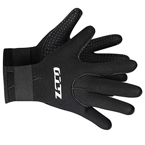 Neoprene Gloves Scuba Diving Gloves Wetsuit Dive Gloves for Men Women Kids, 3MM 5MM Flexible Anti Slip Thermal Five Finger Surfing Glove for Spearfishing Paddling Kayaking Swimming (3mm Black, M)