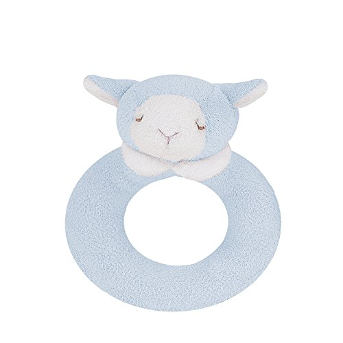 Angel Dear Ring Rattle, Blue Lamb