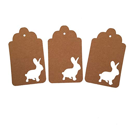Bunny Gift Tags, Animal Party Supplies, Woodland Theme, Rabbit Theme, Easter Decorations ()