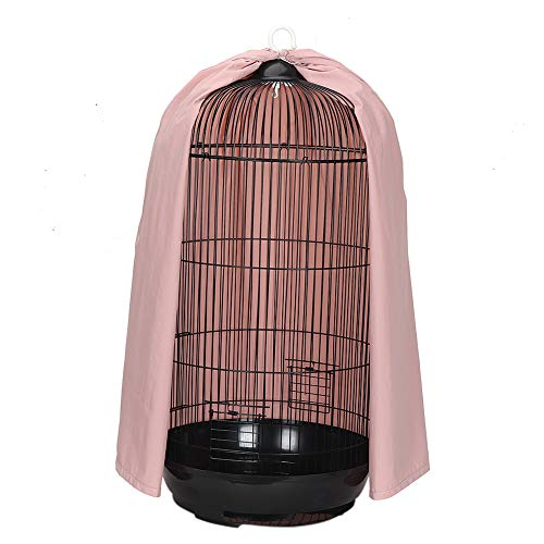 Universal Round Dome Top Bird Cage Cover Shield, Thicken Nylon Pet Parrot Cage Cover, Birdcage Light Covers Skirt…
