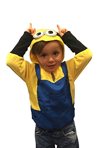ComfyCamper Monster Henchman Villain Costume Play Sweatshirt Hoodie Boys / Girls (4-6 Years) - Cute Minion Costumes