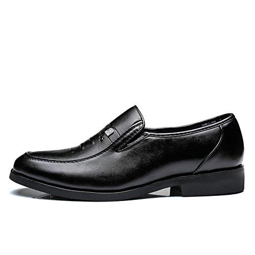 in Business rotonda Sstyle con Resistente Nero all'abrasione Traspirante Casual scarpe pelle Nero amp;Baby basso Oxford uomo da vera testa Sunny all'usura di Resistente Tacco U5wZOn
