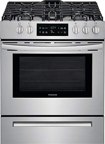 Frigidaire FFGH3054US 30 Inch Freestanding Gas Range with 5 Burners, Sealed Cooktop, 5 cu. ft. Primary Oven Capacity, in Stainless - Range Gas 30 Professional