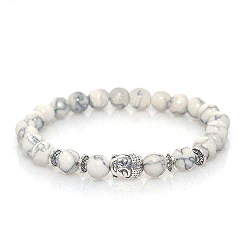 MayaBracelets Buddha Marble Elastic Bracelet