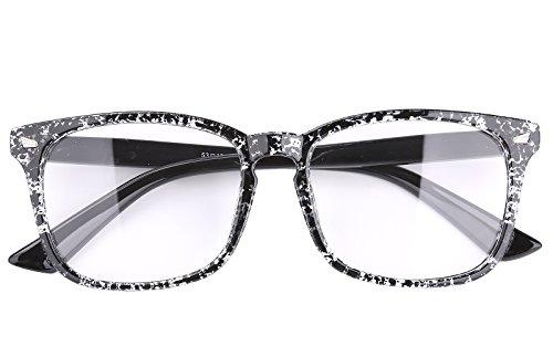 Agstum Wayfarer Plain Glasses Frame Eyeglasses Clear Lens (Ink black, - Glasses La Ink Frames