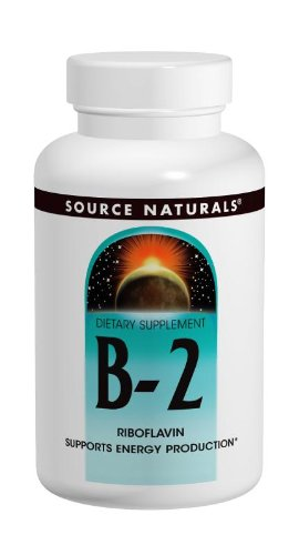 Source Naturals Vitamin B-2 Riboflavin 100mg, 250 Tablets (Pack of 2)