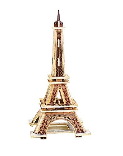 MJ201 DIY 3D Wooden Puzzle: EIFFEL (Eiffel Tower Crafts)
