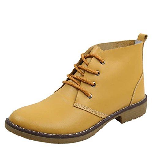 de de mujer Zapatos Beige cuero Martin Boots 7pqnAE