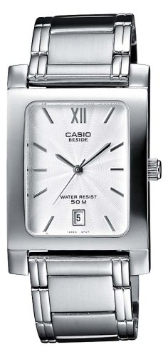9614caded919 Casio BEM-100D-7AVEF - Reloj analógico de cuarzo para mujer con correa de  acero inoxidable