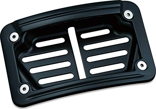 (Kuryakyn 7678 Satin Black Laydown Curved LED License Plate)